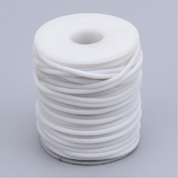 Cordon buna creux caoutchouc 2 mm blanc x 1 m - Photo n°3