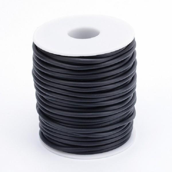 Cordon buna creux caoutchouc 2 mm noir x 1 m - Photo n°3