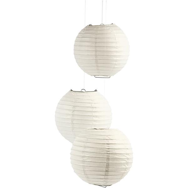 Lanterne en papier - Boule - 35 cm - 1 pce - Photo n°2