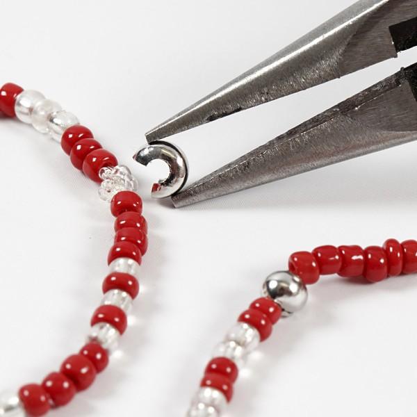 Cache-noeud - Perles à écraser - Argenté - 5 mm - 500 pcs - Photo n°3