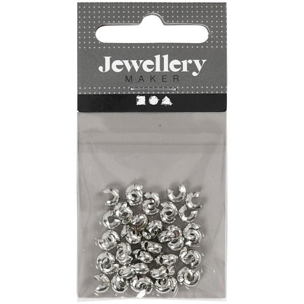 Cache-noeud - Perles à écraser - Argenté - 5 mm - 500 pcs - Photo n°5
