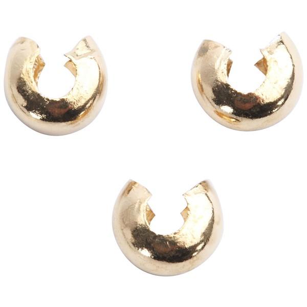 Cache-noeud - Perles à écraser - Doré - 5 mm - 500 pcs - Photo n°2