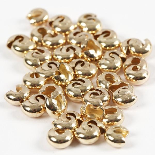 Cache-noeud - Perles à écraser - Doré - 5 mm - 500 pcs - Photo n°4