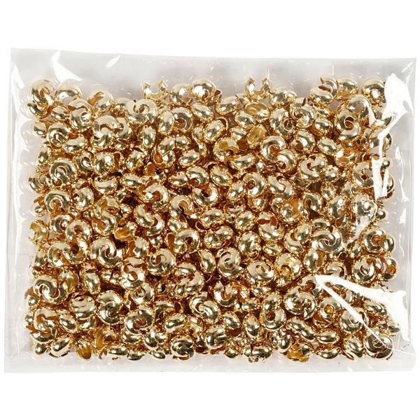 Cache-noeud - Perles à écraser - Doré - 5 mm - 500 pcs - Photo n°5
