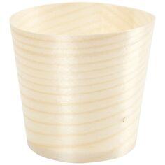 Pots en bois pour contact alimentaire - 6 x 5,5 cm - 12 pcs