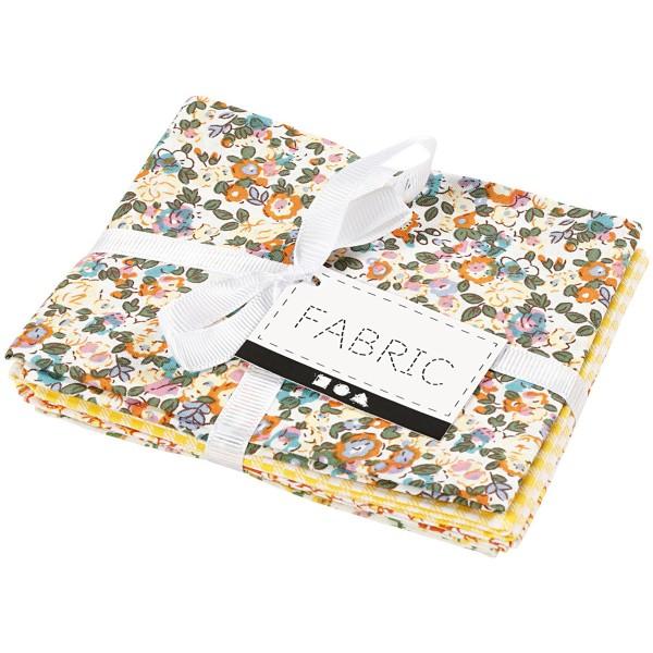 Assortiment de tissu patchwork - 45 x 55 cm - Jaune - 4 pcs - Photo n°2