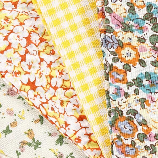 Assortiment de tissu patchwork - 45 x 55 cm - Jaune - 4 pcs - Photo n°3