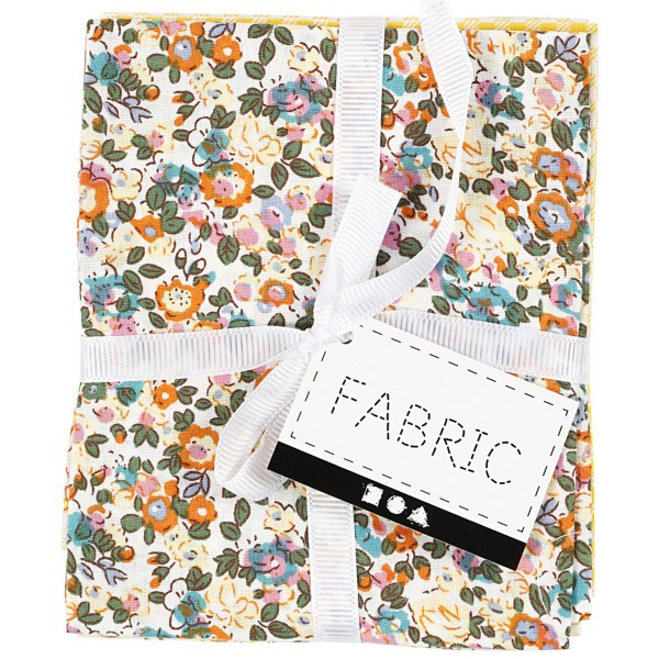 Assortiment de tissu patchwork - 45 x 55 cm - Jaune - 4 pcs - Photo n°4