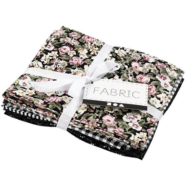 Assortiment de tissu patchwork - 45 x 55 cm - Noir - 4 pcs - Photo n°2