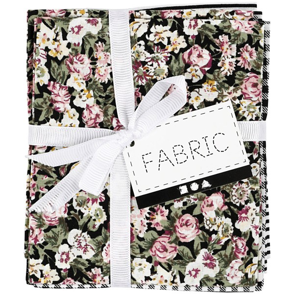 Assortiment de tissu patchwork - 45 x 55 cm - Noir - 4 pcs - Photo n°4