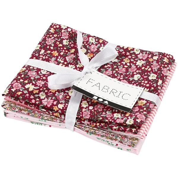 Assortiment de tissu patchwork - 45 x 55 cm - Rose - 4 pcs - Photo n°2