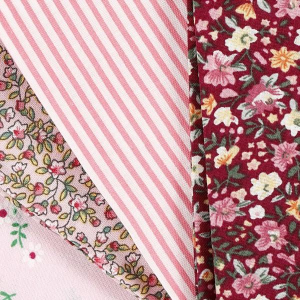Assortiment de tissu patchwork - 45 x 55 cm - Rose - 4 pcs - Photo n°3