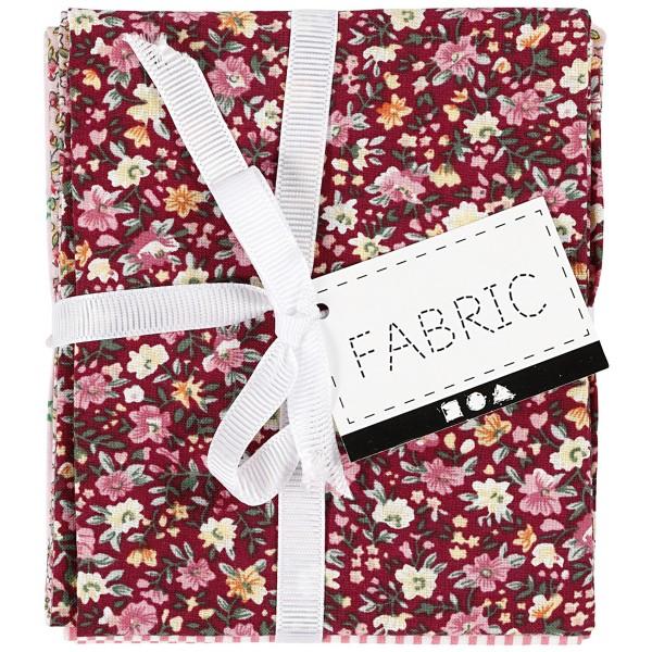 Assortiment de tissu patchwork - 45 x 55 cm - Rose - 4 pcs - Photo n°4