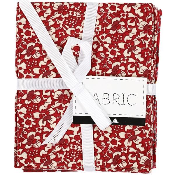 Assortiment de tissu patchwork - 45 x 55 cm - Rouge - 4 pcs - Photo n°4