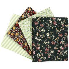 Assortiment de tissu patchwork - 45 x 55 cm - Vert - 4 pcs