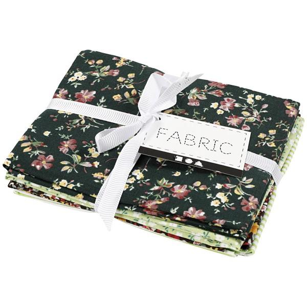 Assortiment de tissu patchwork - 45 x 55 cm - Vert - 4 pcs - Photo n°2