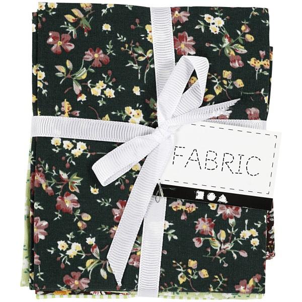 Assortiment de tissu patchwork - 45 x 55 cm - Vert - 4 pcs - Photo n°4
