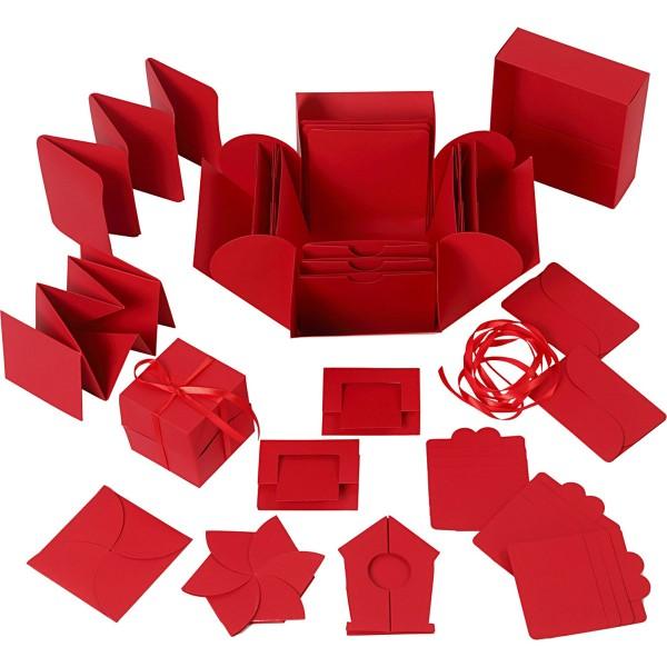 Boite à explosion - Rouge - 12 x 12 x 12 cm - Photo n°1
