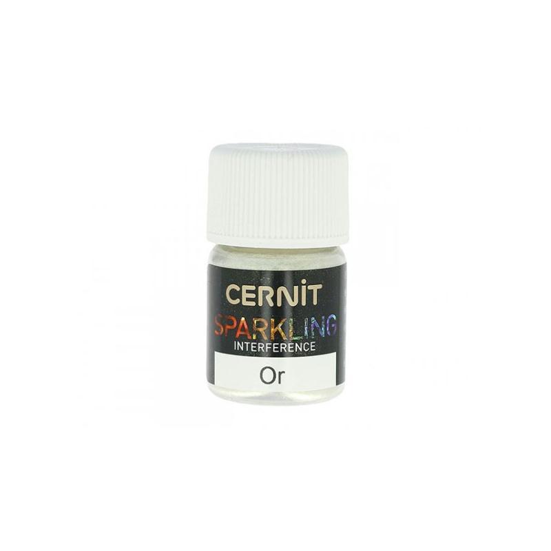 Poudre De Mica Pour Pâte Polymère Cernit Sparkling Or Interférence - Photo n°1