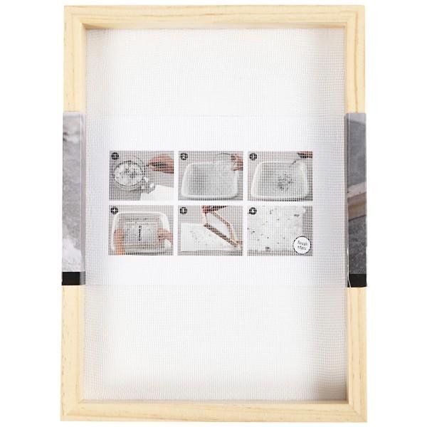 Tamis pour fabrication de papier - 23 x 17 x 2 cm - Photo n°5