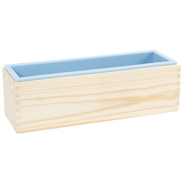 Moule à savon en bois et silicone - 27,5 x 8,6 x 8 cm - Photo n°3