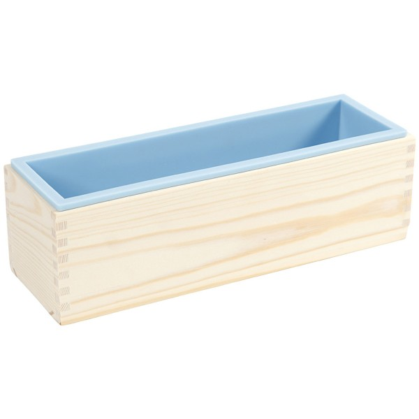 Moule à savon en bois et silicone - 27,5 x 8,6 x 8 cm - Photo n°1