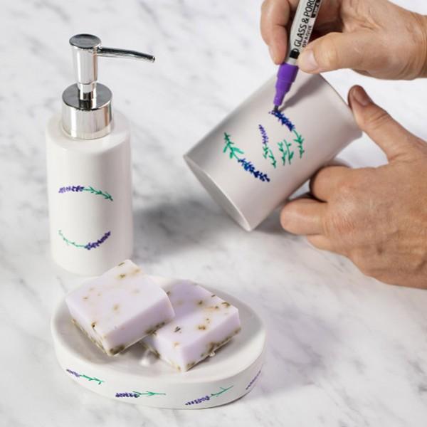 Distributeur de savon - Céramique - 150 ml - Photo n°2