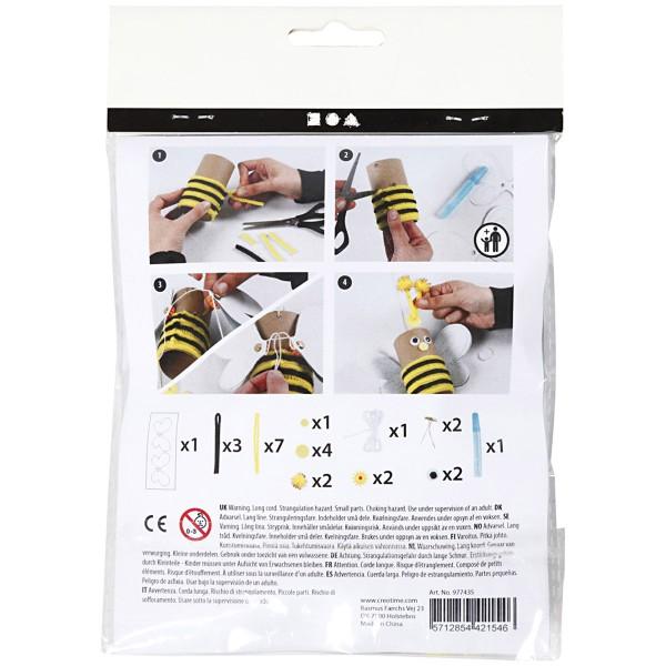 Mini kit créatif pour enfant spécial recyclage - Abeille - Photo n°3