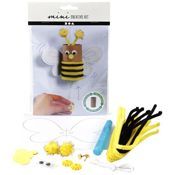 Mini kit créatif pour enfant spécial recyclage - Abeille - Photo n°1