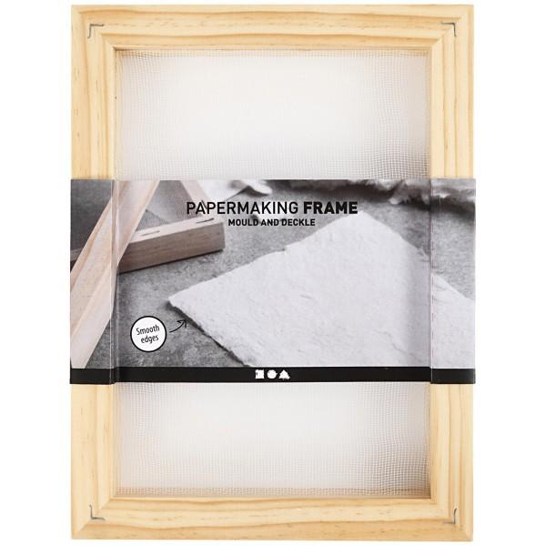 Tamis pour fabrication de papier - Double cadre - 25 x 19 cm - Photo n°3