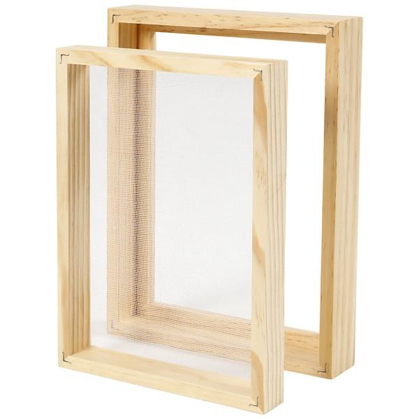 Tamis pour fabrication de papier - Double cadre - 25 x 19 cm - Photo n°1
