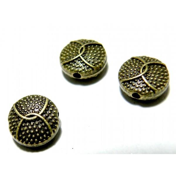 Lot de 20 Perles intercalaires Picots 2D1959 metal couleur Bronze - Photo n°2