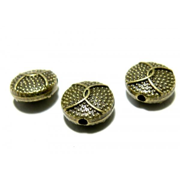 Lot de 20 Perles intercalaires Picots 2D1959 metal couleur Bronze - Photo n°1