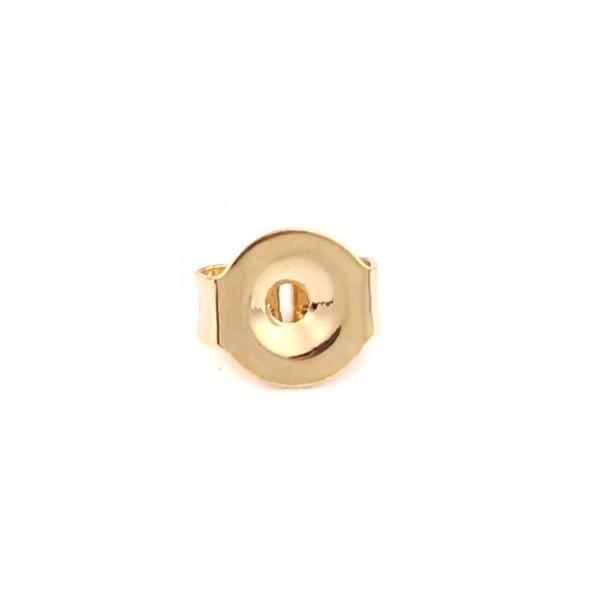 PS110211547 PAX 50 embouts, poussoirs pour boucle d'oreille en Acier Inoxydable doré 18KT - Photo n°2