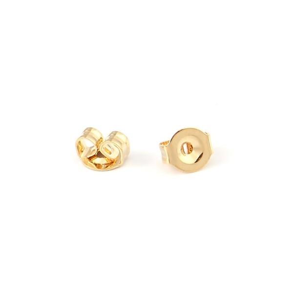 PS110211547 PAX 50 embouts, poussoirs pour boucle d'oreille en Acier Inoxydable doré 18KT - Photo n°1