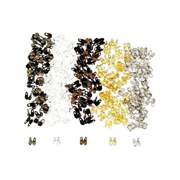 LES ESSENTIELS: PAX 1000 EMBOUTS Fermoirs pour Chaine à Billes PM MULTICOLORES S1178139 - Photo n°1