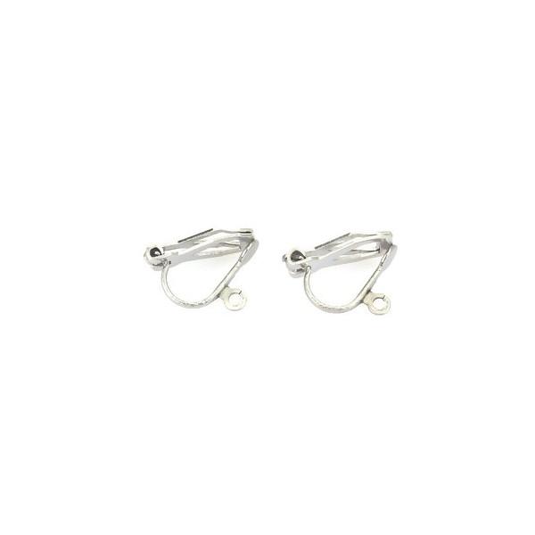 PS110214648 PAX 10 Supports de Boucles d'oreille Clips avec attache 304 ACIER INOXYDABLE - Photo n°2