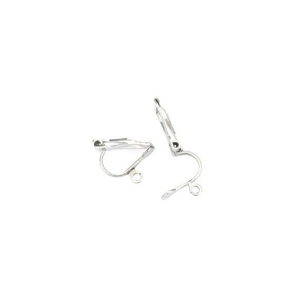 PS110214648 PAX 10 Supports de Boucles d'oreille Clips avec attache 304 ACIER INOXYDABLE - Photo n°4
