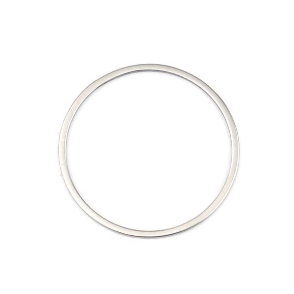 PS110256721 PAX 5 Pendentifs connecteur Cercle 30 mm en Acier Inoxydable 304 - Photo n°1