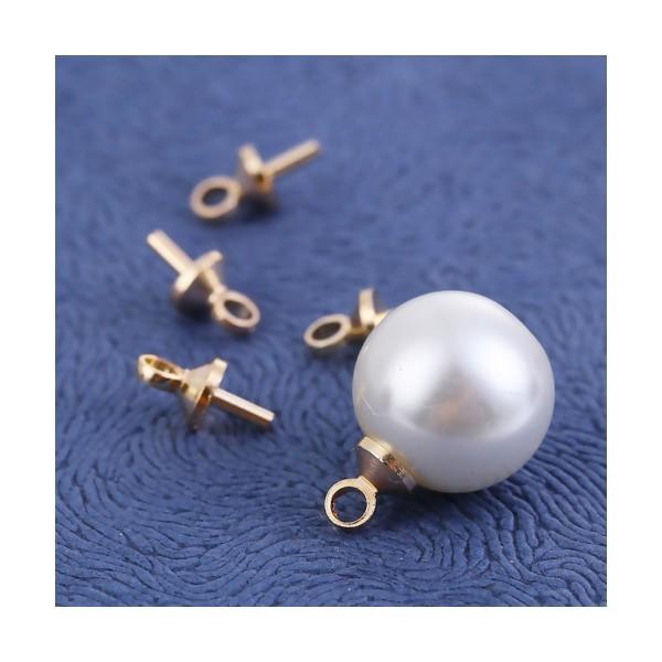 PS110102037 PAX 50 embouts, bélières a COLLER pour perles Cuivre couleur Doré - Photo n°3