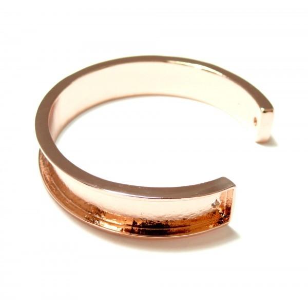 S11114562 PAX 1 Support bracelet Jonc Manchette pour cordon en 10mm couleur Or Rose - Photo n°1