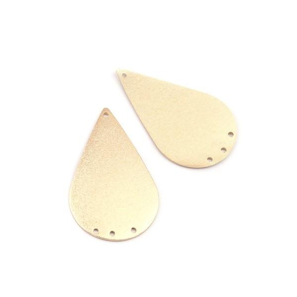 PS110210787 PAX 4 pendentifs connecteurs chandeliers stardust Goutte 44mm cuivre couleur Doré - Photo n°4