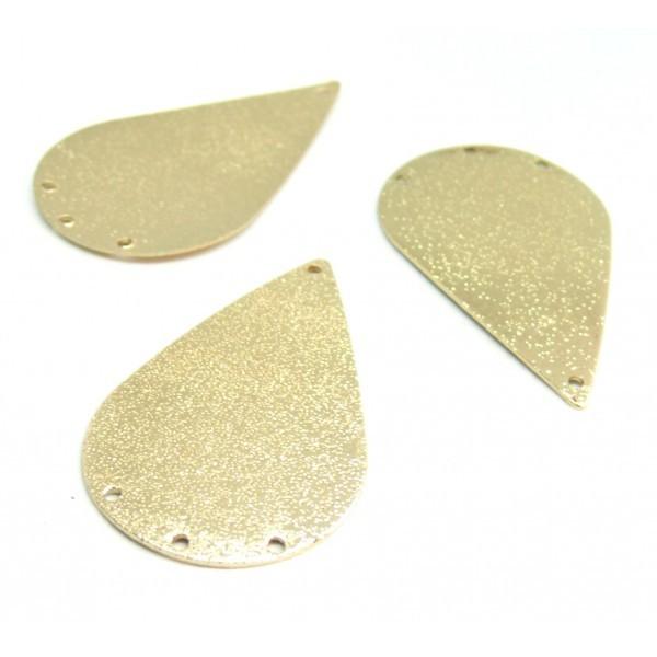 PS110210787 PAX 4 pendentifs connecteurs chandeliers stardust Goutte 44mm cuivre couleur Doré - Photo n°1