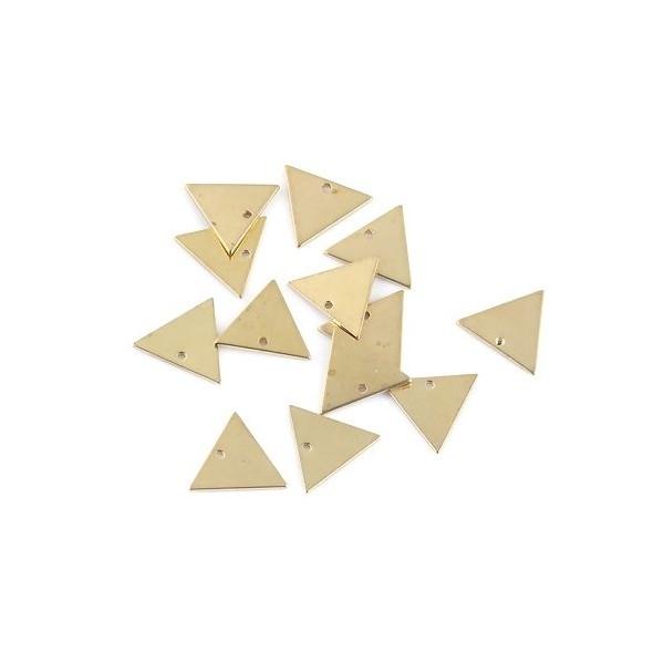 PS110100117 PAX 10 pendentifs Triangle 15 mm qualité Cuivre - Photo n°3