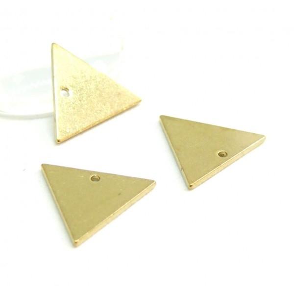 PS110100117 PAX 10 pendentifs Triangle 15 mm qualité Cuivre - Photo n°1