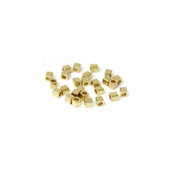 PS11153136 PAX 200 perles intercalaire CUBE 2mm cuivre OR - Photo n°1
