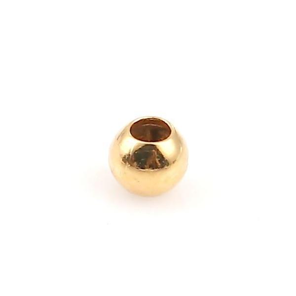 PS1134077 PAX 200 perles intercalaires Bille 2mm Cuivre couleur Doré - Photo n°1