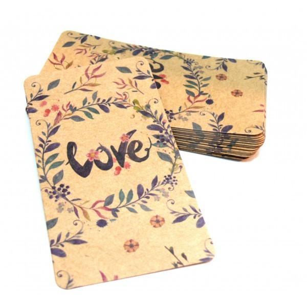H11303B PAX 25 cartes de présentation Rectangle LOVE 9cm pour boucles d'oreilles - Photo n°2