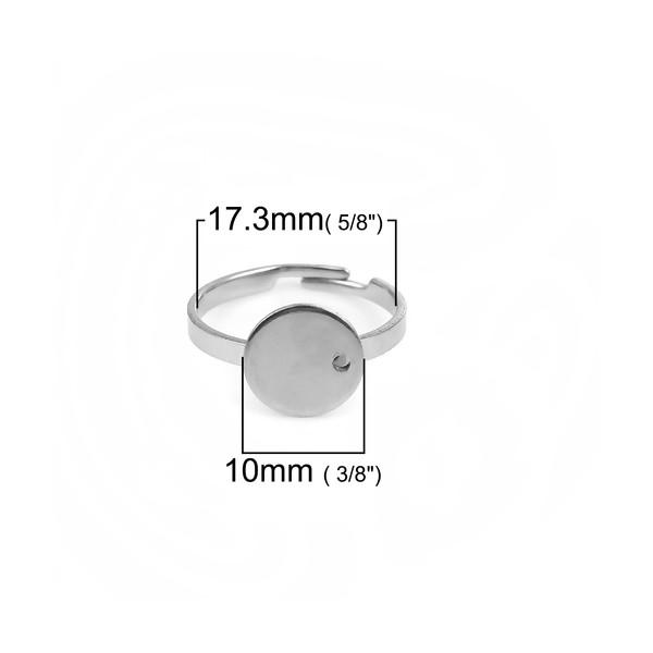 PS110107913 PAX: 5 Supports de Bague 10 mm en ACIER INOXYDABLE 304 - Photo n°2