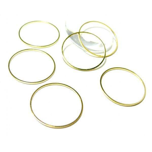 H18725 PAX 40 pendentifs grand anneau connecteur fermé rond 25mm couleur Argent Vif - Photo n°1